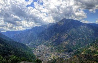 Mountain view of Andorra la Vella